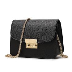 2016 Mini Metropolis Bag Ladies PU Leather Women Messenger Bags Handbags Women Long Chain Crossbody Bags (Black) - Intl