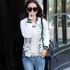 2016 New Autumn Korean Fashion Coat Stitching Jacket Lightweight Jackets Long Sleeve Baseball Jackets -white