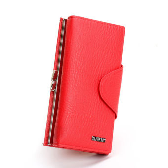 2016 New Casual Women Top Leather Clutch Wallet Ladys Hasp Multifunction Long Wallets Famous Brand Coin Purse Phone Handbag
