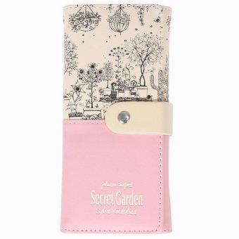 2016 Secret Garden PU Wallet Women Purse (Pink)