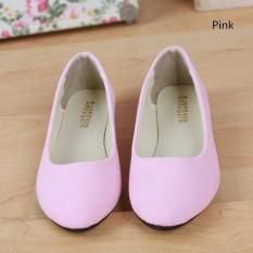 2016 Spring Autumn Korean Fashion Pointed Women Flat Shoes Shallow Mouth Candy Color Shoes (Pink) - intl