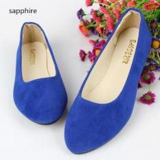 2016 Spring Autumn Korean Fashion Pointed Women Flat Shoes Shallow Mouth Candy Color Shoes (Sapphire) - intl