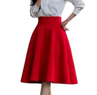 6c42ea7e50dbb8 2017 fashion Women long skirt high waist Vintage Tutu pleated Skirt swing  party woman skirts Plus