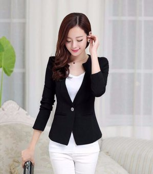 023a73c145a 2017 Spring Women Slim Blazer Coat New Fashion Casual Jacket Long Sleeve  One Button Suit Ladies