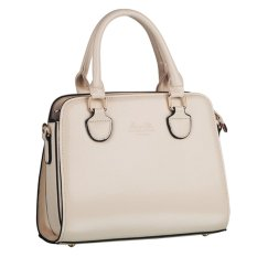 360WISH Women Love Korean Style PU Leather Tote Bag Handbags Shoulder Bag Crossbody Bag - Beige - Intl