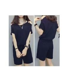 369 Sexy Jumpsuit Raina Casual Wanita - Navy Blue