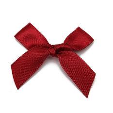 50pcs Silk Satin Ribbon Bows Ribbons Appliques Scrapbooking Craft DIY Gift 4x3cm Wine Red