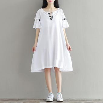 Harga 5126# V Neck Ruffle Short Sleeve Plus Size Maternity Dress ...