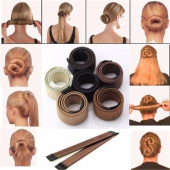 5PCS Women Girl Magic DIY Hair Styling Donut Former Foam FrenchTwist Bun Maker Tool 2017 New