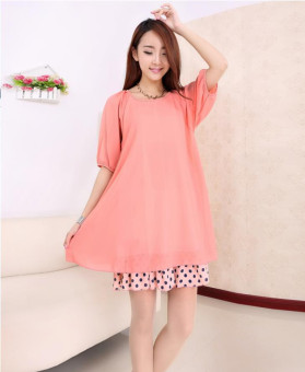025e93e7ddd0a 6018# Elegant Maternity Casual Dress Chiffon Clothes for Pregnant Women  Plus Size Summer Clothing for