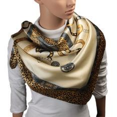 90cm*90cm High quality Hijab silk scarf for women ladies shawl fringed scarf leopard print
