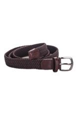 Acecamp 5104 Women's Fashionable Elastic Pin Buckle PU Leather Sports Belt - Coffee