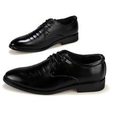 AD NK FASHION Men's Fashion Bullock Wingtip Leather Dress Formal Shoes BOSS Selection (Black) JC291 - Intl