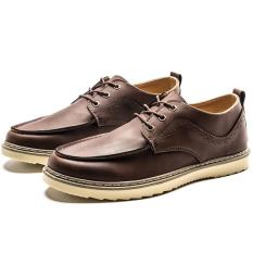 AD NK FASHION Men's Fashion Bullock Wingtip Leather Dress Formal Shoes BOSS Selection (Brown) JC295 - Intl