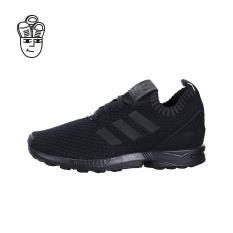 Adidas ZX Flux Primeknit Running Shoes (Black / Black-Black) s81975 - intl