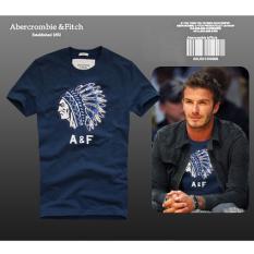 AF Men's Casual Fashion Slim Fit Cotton Short-sleeve Crew-neck T-shirt (Denim Blue)