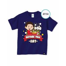 Afrakids AF154 DOA BEFORE YOU EAT kaos muslim anak cowok