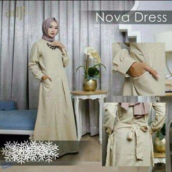 AK-300 Nova Dress Cream Jersey Akiko Fashion