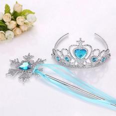 Aksesoris Princess Mahkota Tiara + Tongkat Anak Frozen dkk