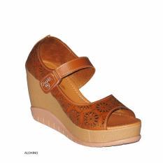 Aldhino Sepatu Sandal Wedges Wanita MGS-03 - Tan