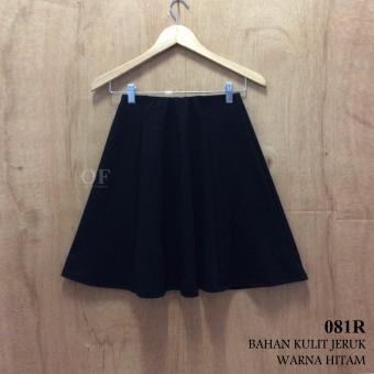Alicia Rok Pendek Model Pecah Delapan Hitam / Flare Skirt (Black)