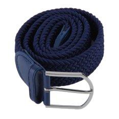 Allwin New Men's Casual Woven Braided Stretch Elastic Belt Waistband Waist Strap Blue