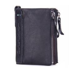 Amart dompet pria kulit asli terbaru dompet koin pendek (hitam) - International