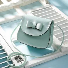 Amart Fashion Mini Bow Handbags Women Clutch Mobile Purse Shoulder Messenger Crossbody Bags (Mint Grenn) - Intl