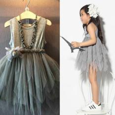 Amart Kids Girls Flower Tutu Tulle Dress Fluffy Sleeveless Birthday Evening Party Dresses - intl