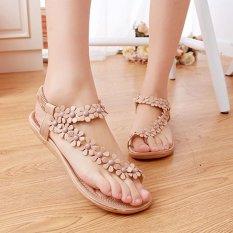 Amart Musim Panas Sandal Wanita Sepatu Flat Thong Bohemia Busana Kasual