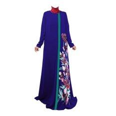 ... 369 Long Maxi Dress Katun Printing Melinda Motif Flower Biru Amart Women Long Sleeve Muslim Turkish
