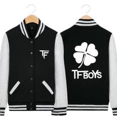 Anak laki-laki versi Korea dari laki-laki bisbol seragam siswa perempuan mantel musim semi jas (Hitam bagian tipis)