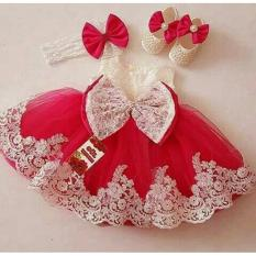 Anami Fashion Pakaian Anak Perempuan - Dress Princess Red