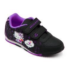 Ando Sepatu Sekolah Anak Perempuan HK Cherry - Black/Purple