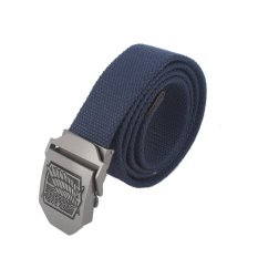 Anime Attack On Titan AOT Canvas Belt Stainless Steel Buckle (Blue) - Intl