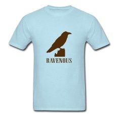 AOSEN FASHION Creative Men's Ravenous Bird T-Shirts Sky Blue - Intl