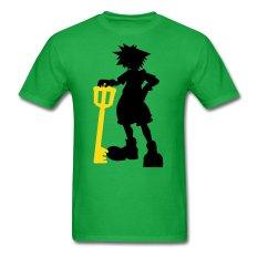 AOSEN FASHION Creative Men's Sora Keyblade Silhouette T-Shirts Bright Green