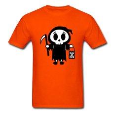 AOSEN FASHION Creative Men's Trick Or Treat T-Shirts Orange