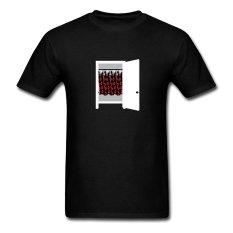 AOSEN FASHION Custom Printed Men's A Closet Full T-Shirts Black - Intl