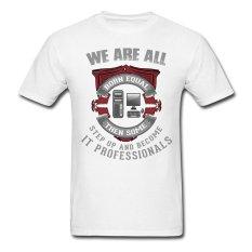 AOSEN FASHION Fashion Men's It Professionals T-Shirts White