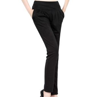 AOXINDA Fashion Women Casual Harem Slim Pants Skinny Long Trousers Black Size L