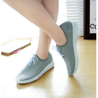 Arlaine Sneakers Smothy Shoes [Abu-Abu]