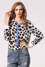 Astar Chiffon Women Lapel T Shirt (Multicolor) (Intl) - Intl