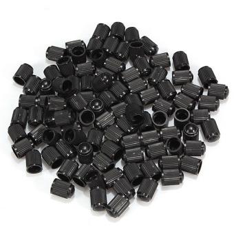 Audew 100 pcs Plastic Bike Bicycle Valve Dust Caps Car Van Motorbike Tyre Wheel Tubes (Black) Audew - Intl - intl