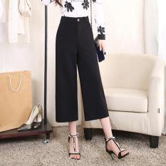 Autumn New Fashion Women Wide Leg Pants Korean Slim Straight Wide Leg Pants Ladies Office Work Career Trousers - Intl