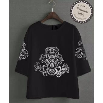 Ayako Fashion Atasan Wanita Blouse Sasa - (Black)