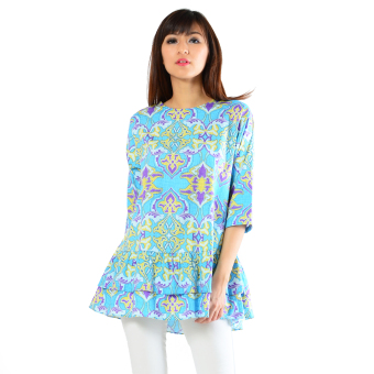 Ayako Fashion Blouse Batik Rose 402 - LE (Biru)