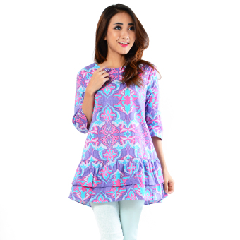 Ayako Fashion Blouse Batik Rose 402 - LE (Purple)