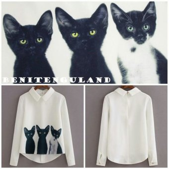 Ayako Fashion Blouse Cat - AY (Putih)