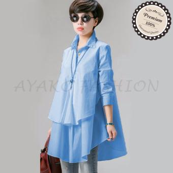 Ayako Fashion Blouse Hiraku - HO (Blue)